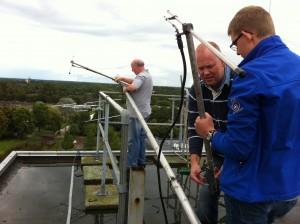 Nieuwe zendantenne in mast RTV Stadskanaal
